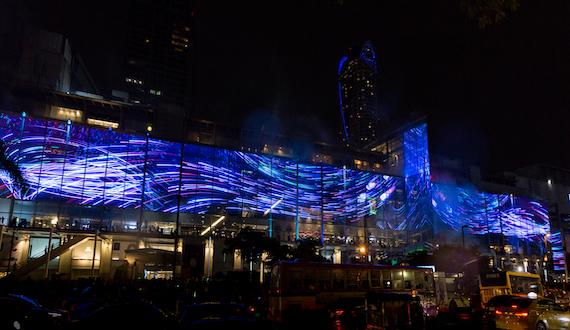 Масштабная мультимедиа-стена в Бангкоке