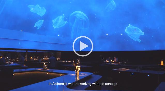 В Копенгагене открылся ресторан с 23-метровым проекционным видеокуполом