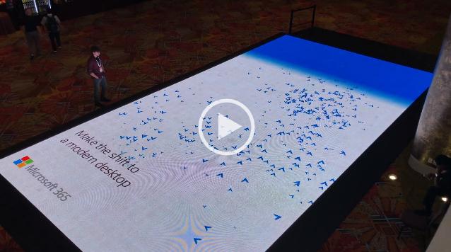 Интерактивный пол Microsoft